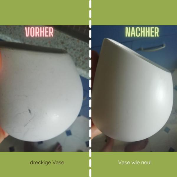 Vase vorher nachher
